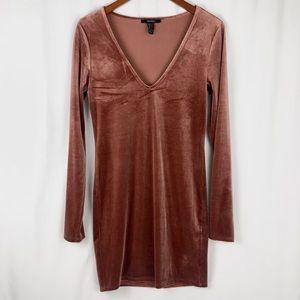 Long Sleeve Velvet Mini Dress